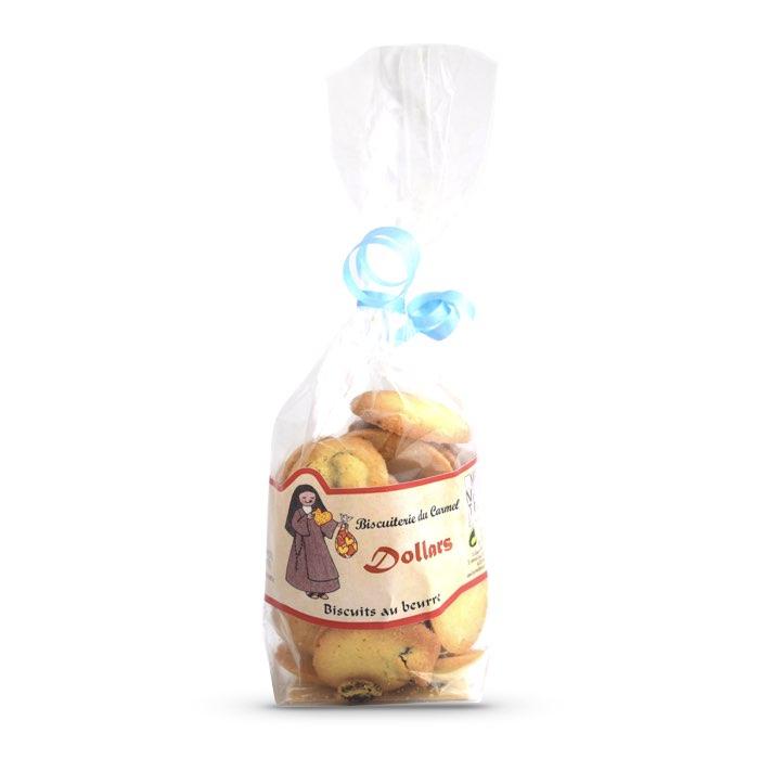 Biscuits Dollars aux raisins et au rhum - Carmel de Vinça