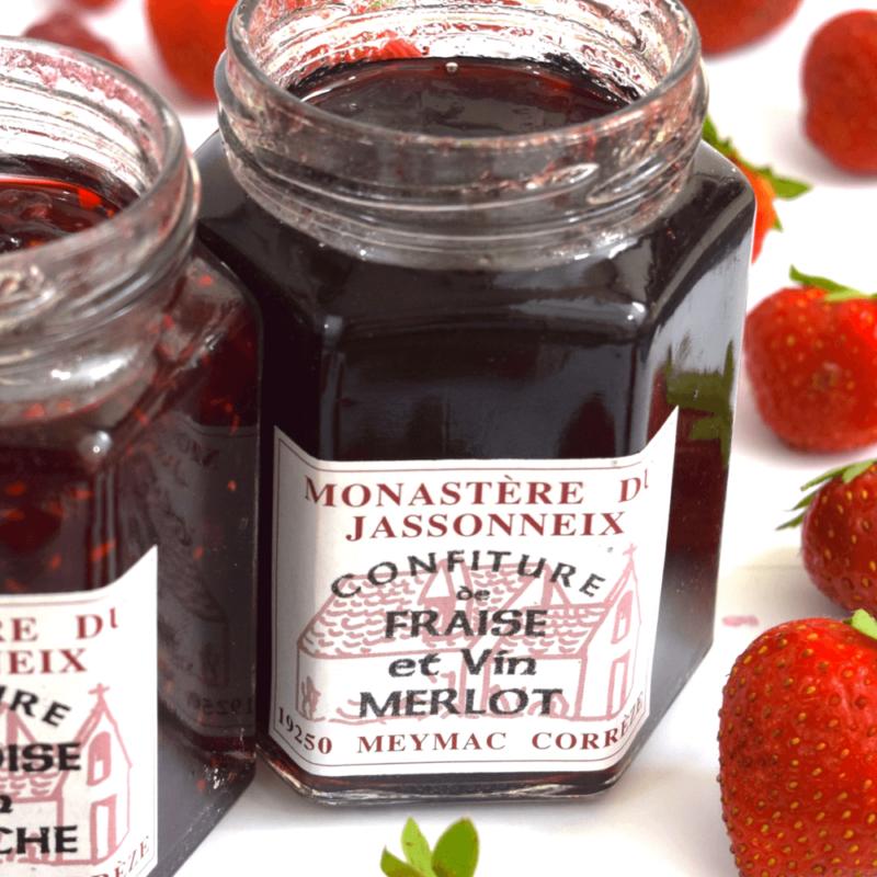 Confiture de fraise et vin Merlot - Monastère du Jassonneix - Divine Box