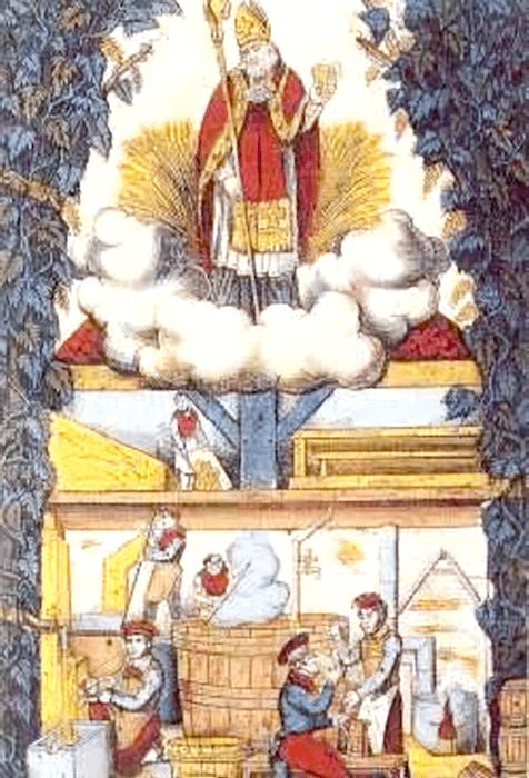 Tableau représentant saint Arnould, patron des brasseurs lorrains