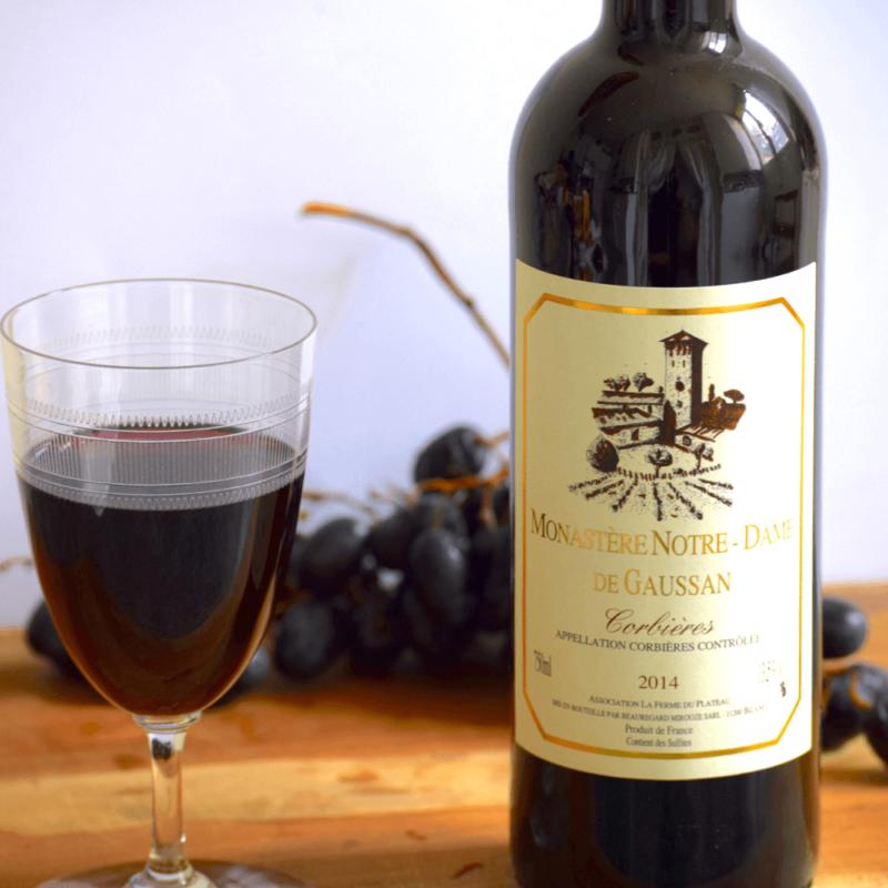 Vin Rouge Corbières 2016 - Monastère Notre-Dame de Gaussan - Divine Box
