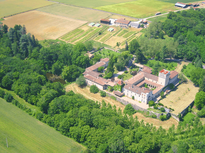 Vue aérienne Abbaye Sainte-Marie du Rivet-Divine Box/