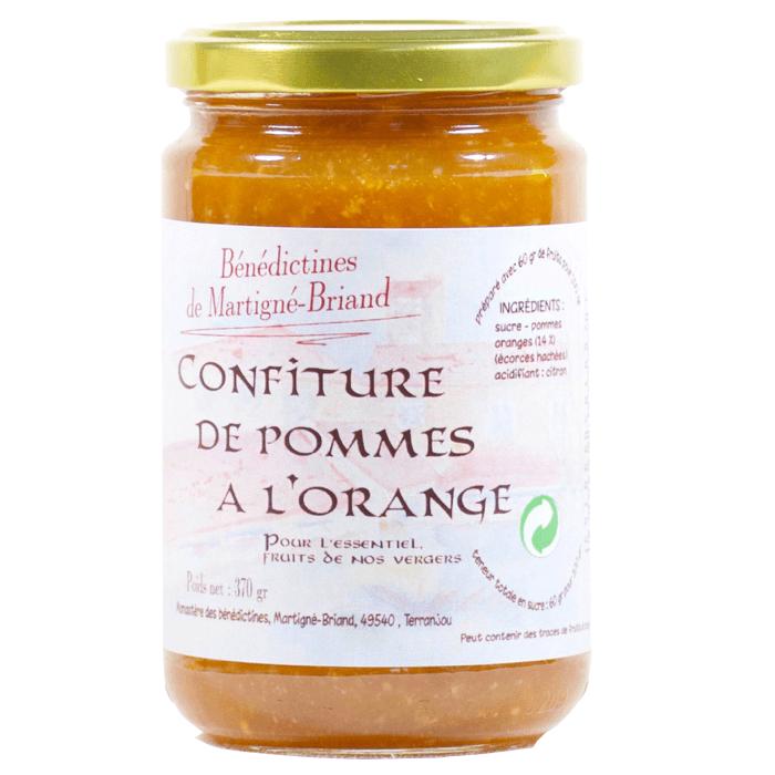 Confiture de pommes à l'orange - Monastère des Bénédictines de Martigné-Briand