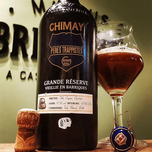 La bière trappiste Chimay vieillie en barriques