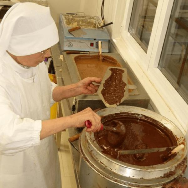 La chocolaterie de l'abbaye de Castagniers