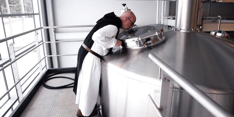 >Les moines trappistes de l'abbaye Saint-Joseph de Spencer aux Etats-Unis brassent depuis 2014 leur «Spencer IPA», une bière de style IPA