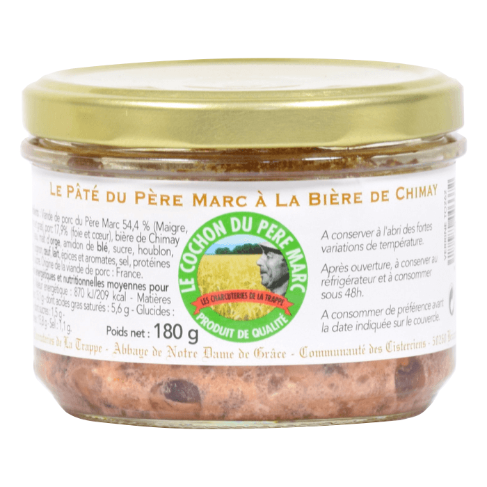 Pâté du Père Marc à la bière de Chimay - Abbaye Notre-Dame-de-Grâce de Bricquebec - Divine Box