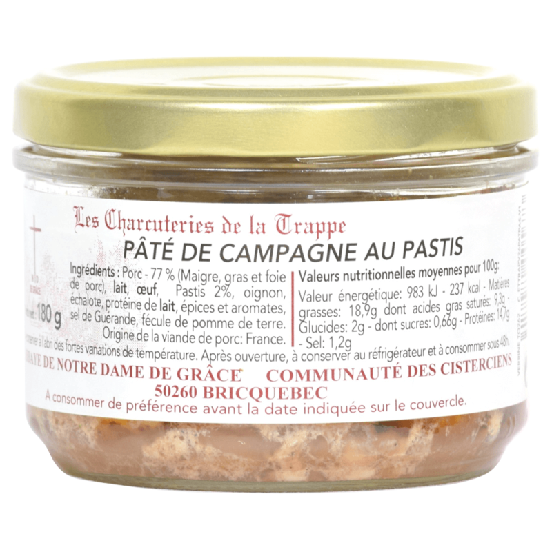 Pâté de campagne au pastis - Abbaye Notre-Dame de Grâce de Bricquebec - Divine Box