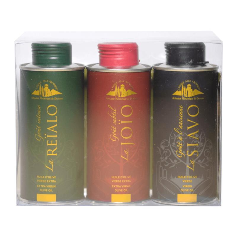 Pack trois huiles d'olive - Abbaye Sainte-Madeleine du Barroux - Divine Box