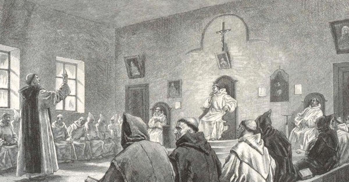 Les moines trappistes de l'abbaye d'Oelenberg se réunissent tous les jours, depuis des siècles, dans leur salle du Chapître