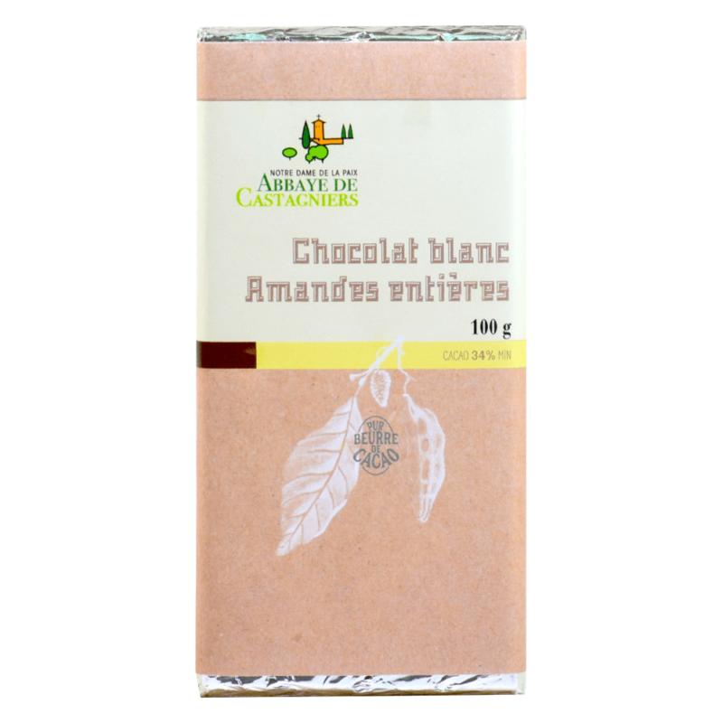 Chocolat blanc amandes entières - Abbaye Notre-Dame de la Paix de Castagniers - Divine Box