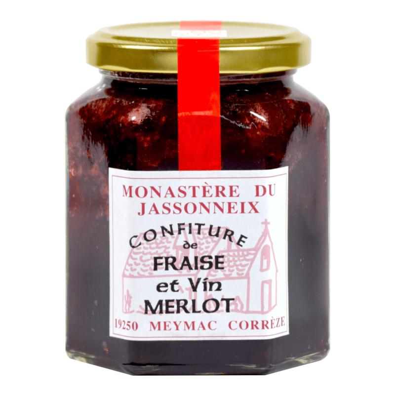Confiture de fraise et vin merlot - Prieuré Sainte-Marie du Jassonneix - Divine Box