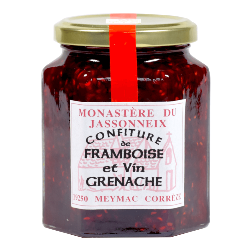 Confiture de framboise et vin grenache - Prieuré Sainte-Marie du Jassonneix - Divine Box