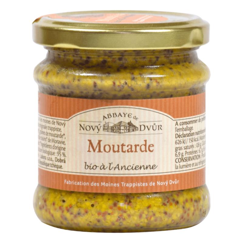Moutarde à l'ancienne bio - Abbaye Notre-Dame de Novy Dvur - Divine Box
