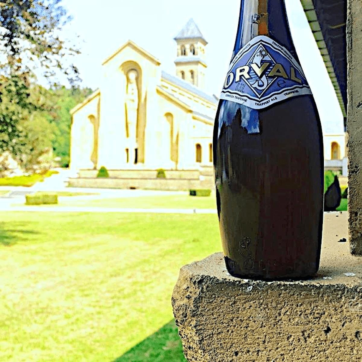 La forme en quille de la bière Orval est unique au monde, et avait été pensée pour résister à la pression de la bière exercée sur la bouteille