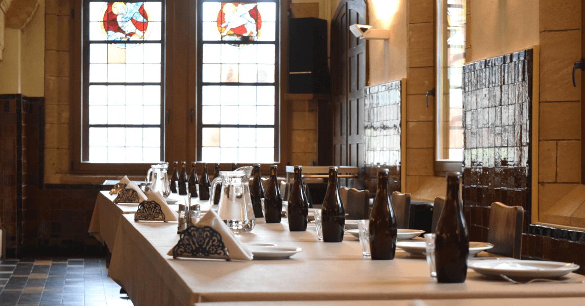 L'Orval vert, la petite soeur de la bière Orval, est disponible uniquement au réfectoire des moines, à l'hôtellerie et à l'auberge de l'abbaye
