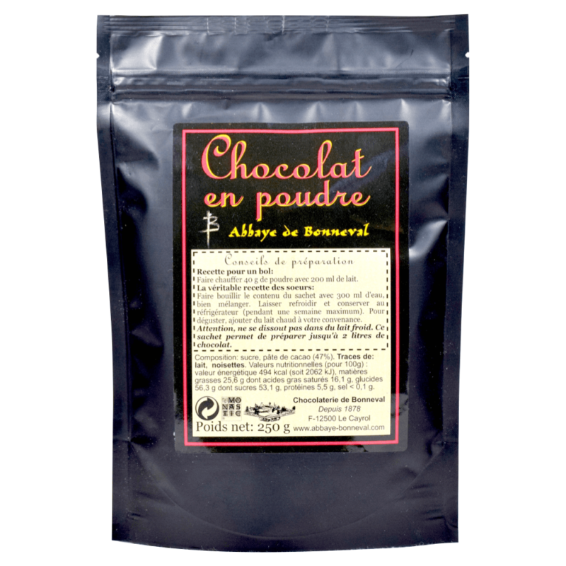 Chocolat en poudre – Abbaye Notre-Dame de Bonneval - Divine Box