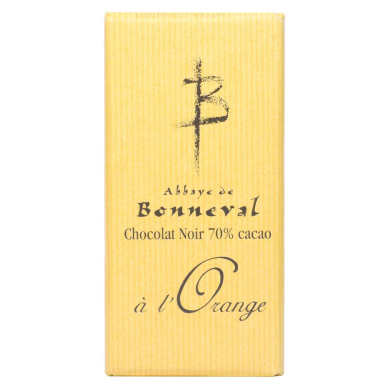 Chocolat noir 70% à l'orange - Abbaye Notre-Dame de Bonneval - Divine Box
