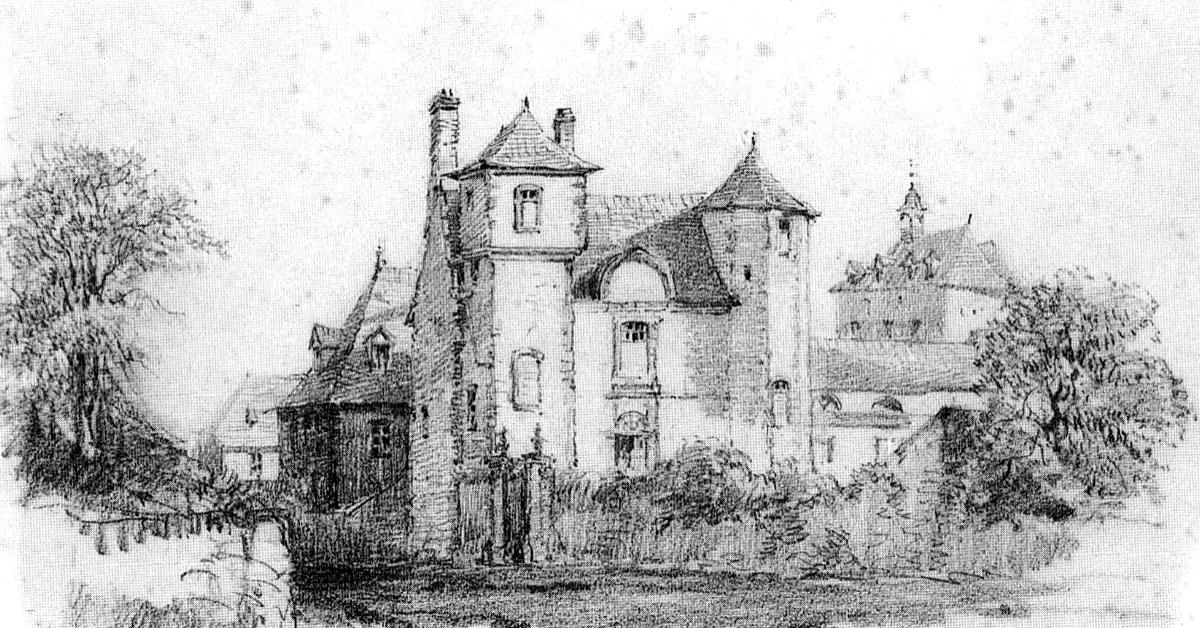 Le prieuré Sainte-Catherine, début XIXe siècle, dessiné par Jean-Baptiste Messager - Divine Box