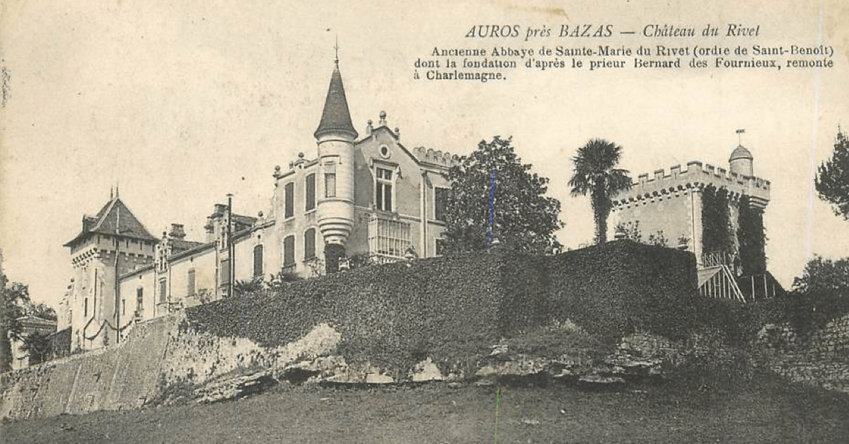 Ancienne photographie de l'Abbaye Sainte-Marie du Rivet - Divine Box