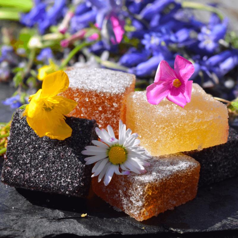 Pâtes de fruits aux fleurs - Abbaye Notre-Dame de Tournay - Divine Box