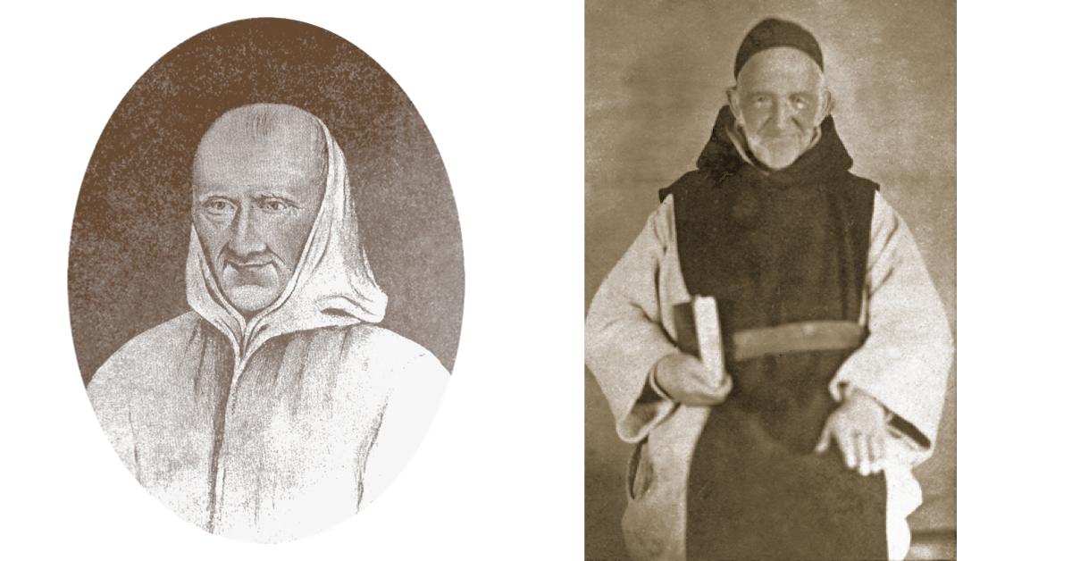 Le père Vincent de Paul Merle (à gauche) et le père Francis Xavier Kaiser (à droite) ont été les deux premiers responsables de la petite communauté. Seul le deuxième verra leurs efforts communs récompensés