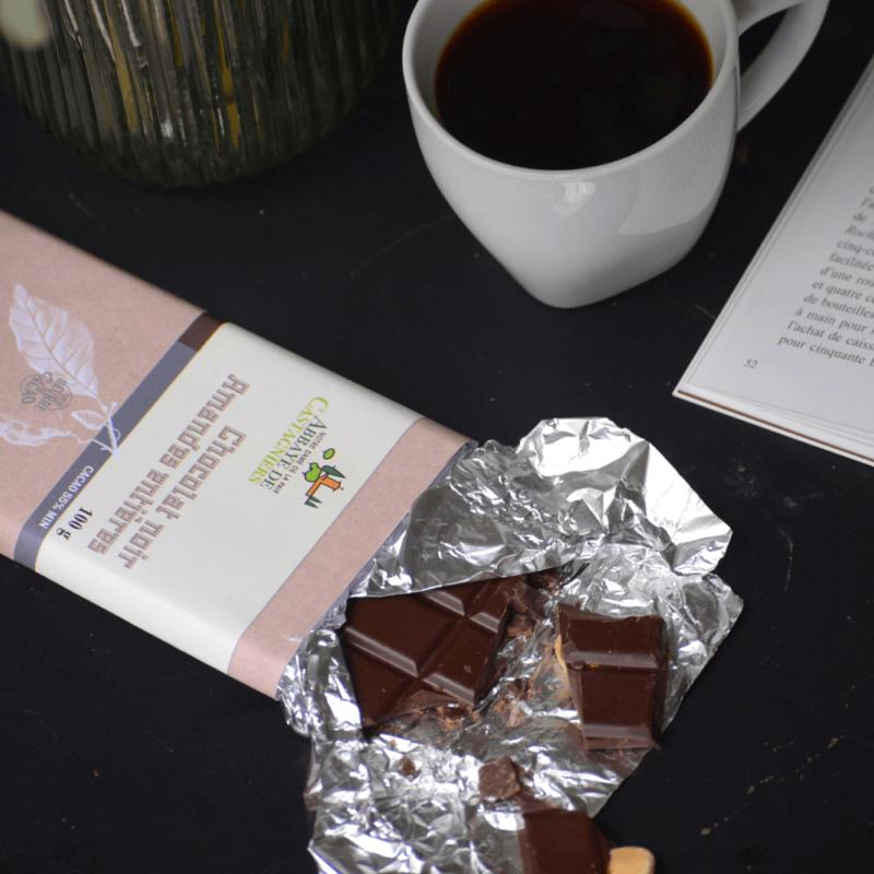 Chocolat noir aux amandes - Abbaye Notre-Dame de la Paix de Castagniers -Divine Box