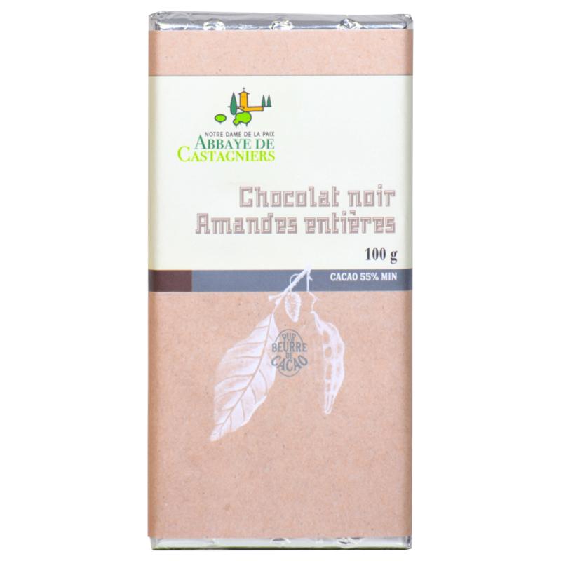 Chocolat noir aux amandes - Abbaye de Castagniers - Divine Box