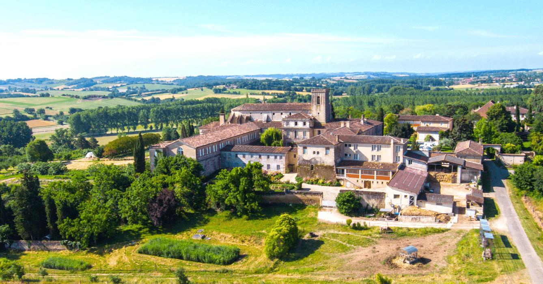 Vue Aérienne Abbaye Sainte-Marie de Boulaur