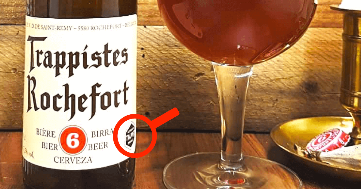 La Rochefort 6 a bien le logo « Authentic Trappist Product », preuve de son authenticité