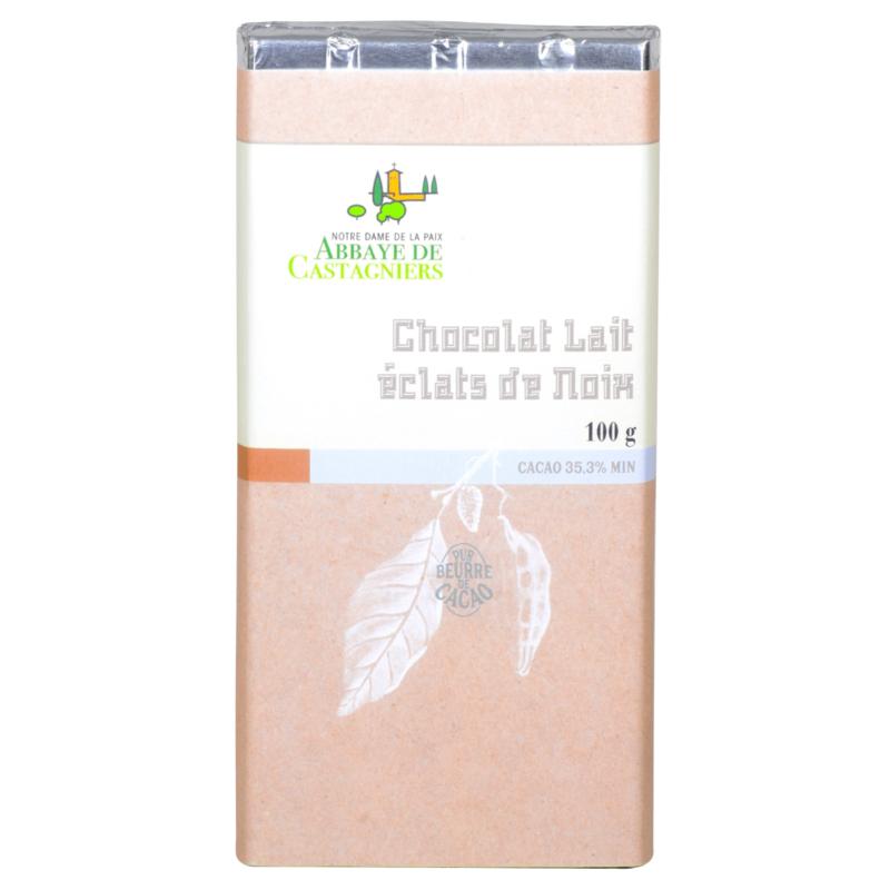 Chocolat lait éclats de noix - Abbaye de Castagniers - Divine Box