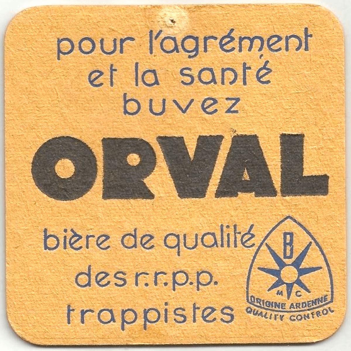 Ancien sous-bock Orval, qui prône les bienfaits de la bière sur la santé. - catawiki.fr