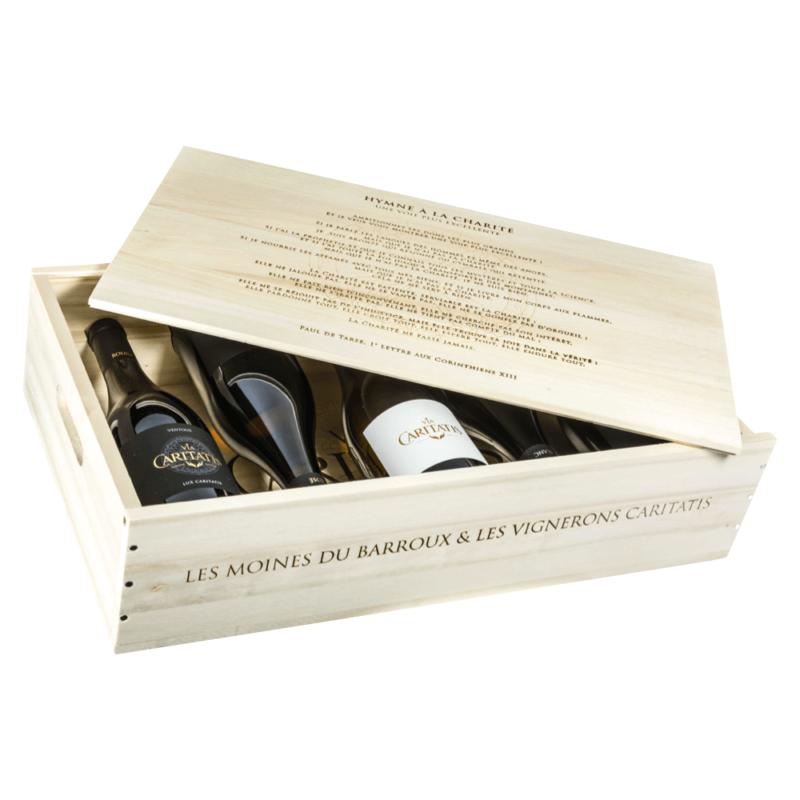 Coffret 5 vins Via Caritatis - Abbaye Sainte-Madeleine du Barroux - Divine Box