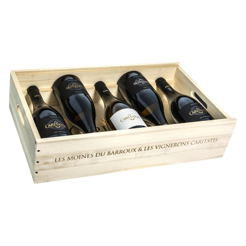 Coffret 5 vins Via Caritatis - Abbaye Sainte Madeleine du Barroux - Divine Box1