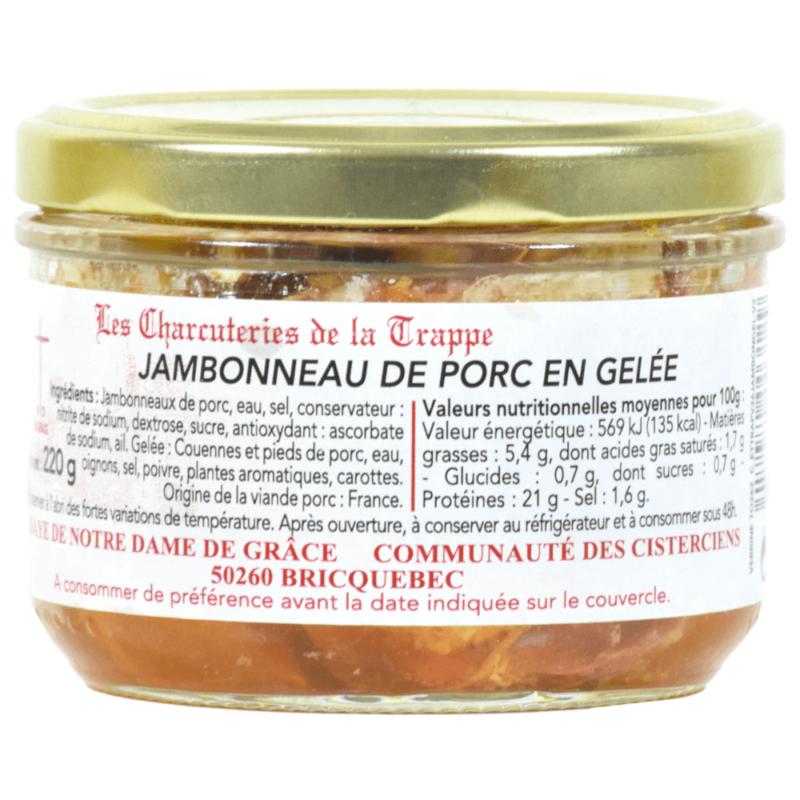 jambonneau de porc en gelee- abbaye notre dame de grâce de briquebec- Divine box