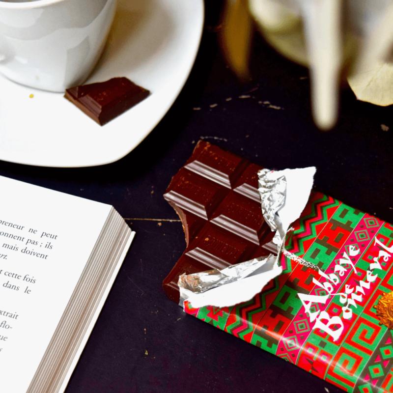 Chocolat noit 70% du Pérou - Abbaye Notre-Dame de Bonneval - Divine Box