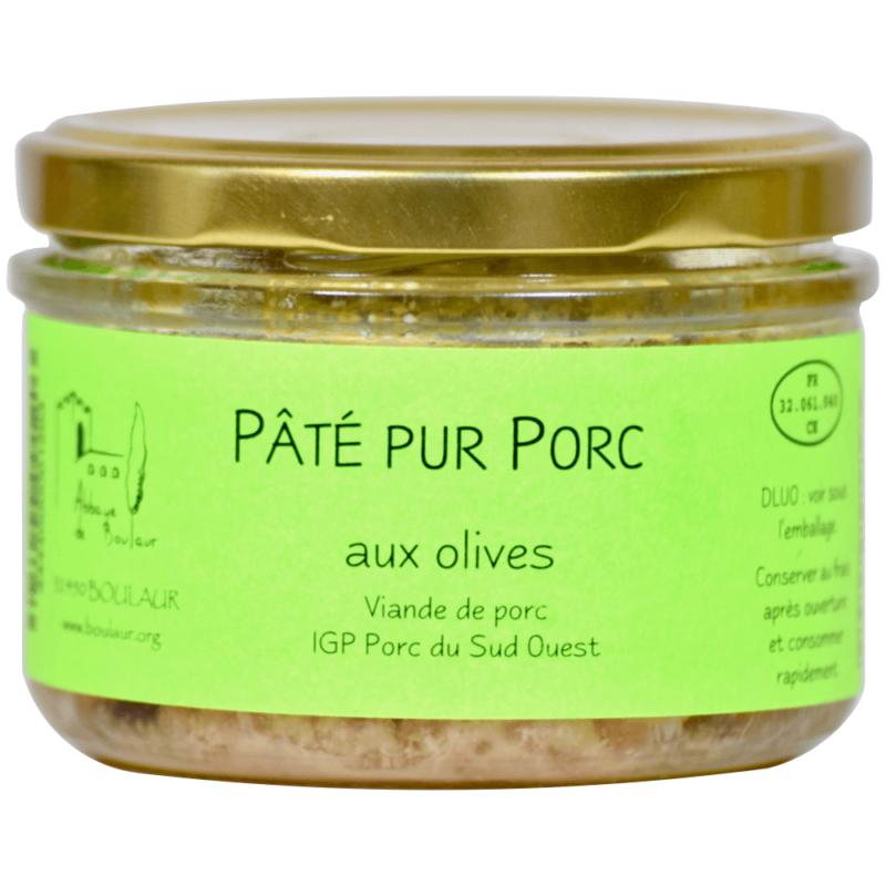 Pâté pur porc aux olives - Abbaye de Boulaur - Divine Box