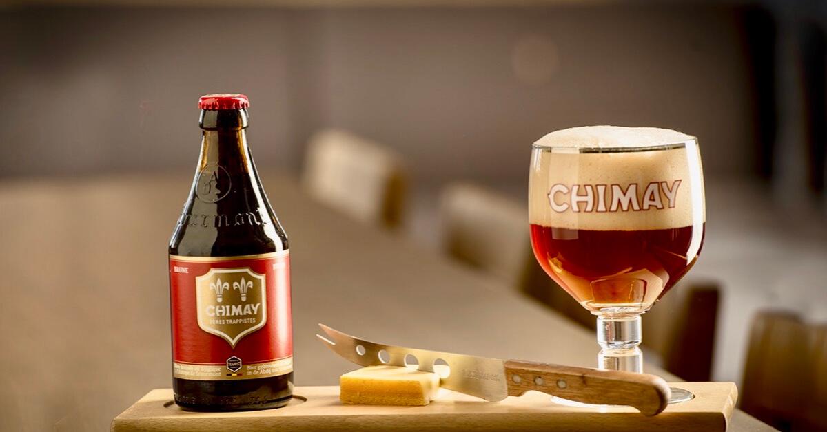 Chimay Rouge avec fromage - Abbaye de Chimay - Chimay