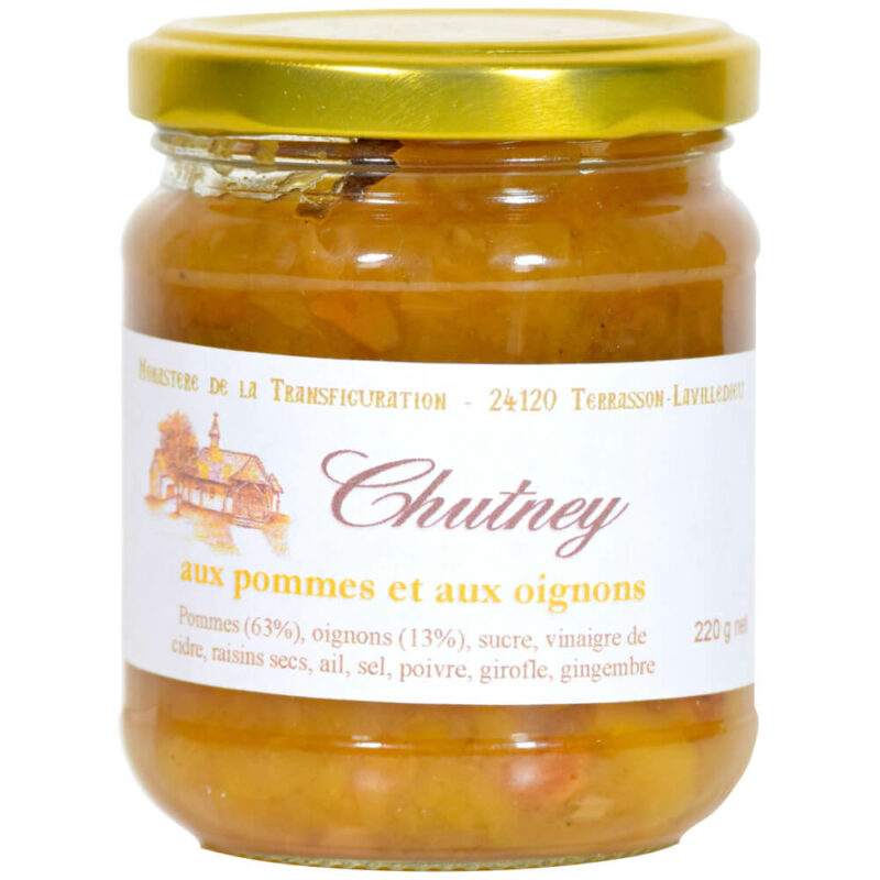 Chutney Pommes Oignons - Monastère Transfiguration - Divine Box