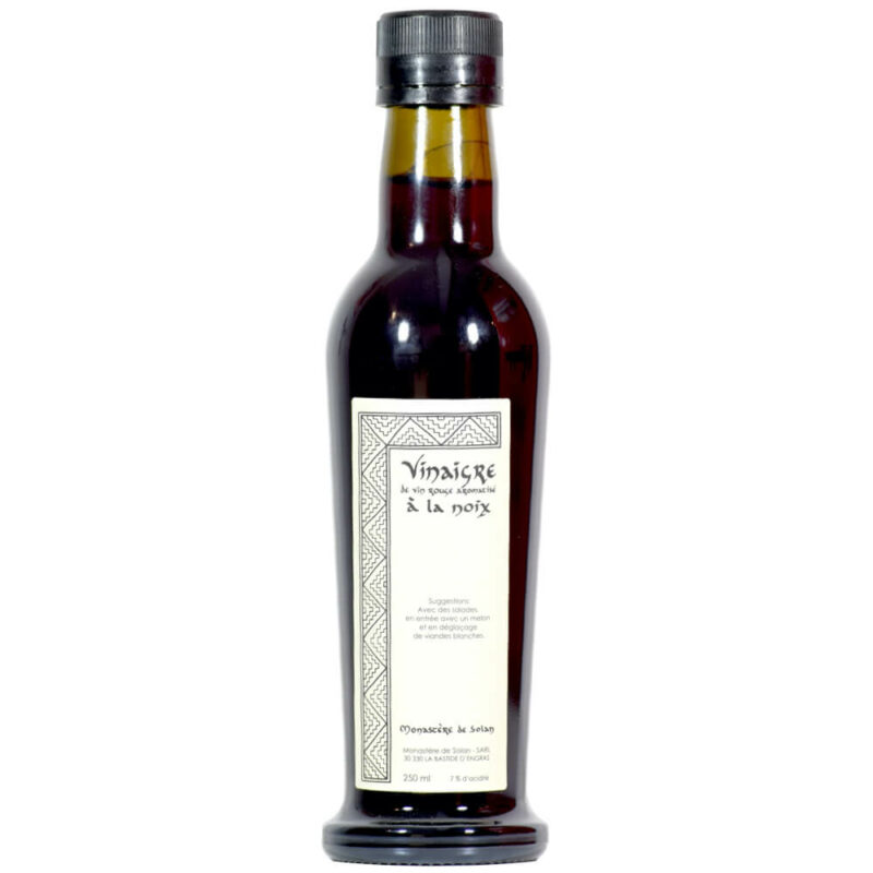 Vinaigre de vin rouge aromatisé à la noix - Monastère de Solan - Divine Box
