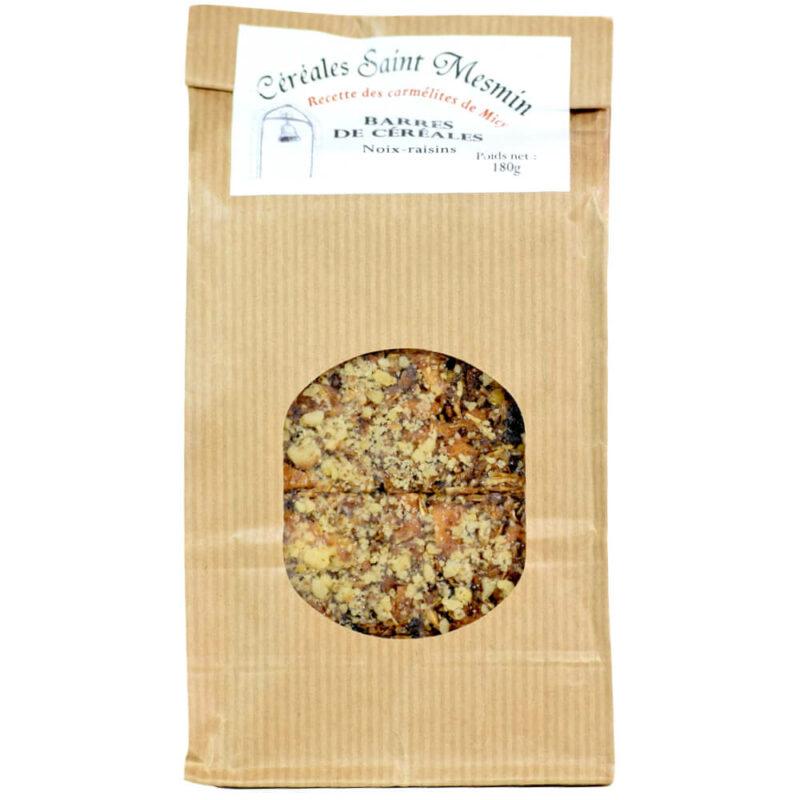 Barres de Céréales miel-noix-raisins - Carmel de Micy-Orléans - Divine Box