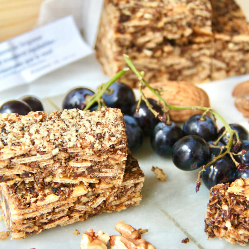 Barres de céréales noix-raisins - Carmel de Micy - Divine Box