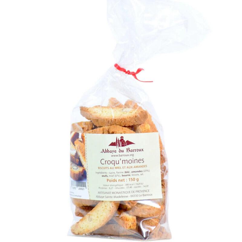 """Croquants amandes et miel """"croq'moines"""" - Abbaye du Barroux - Divine Box"""