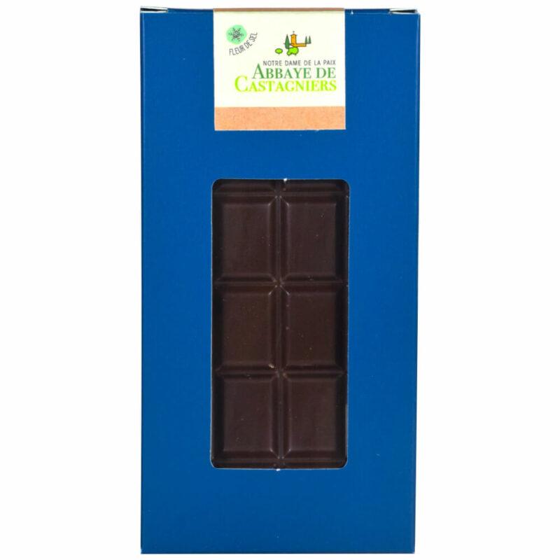 Chocolat noir fleur de sel - Abbaye Notre-Dame de la Paix de Castagniers - Divine Box