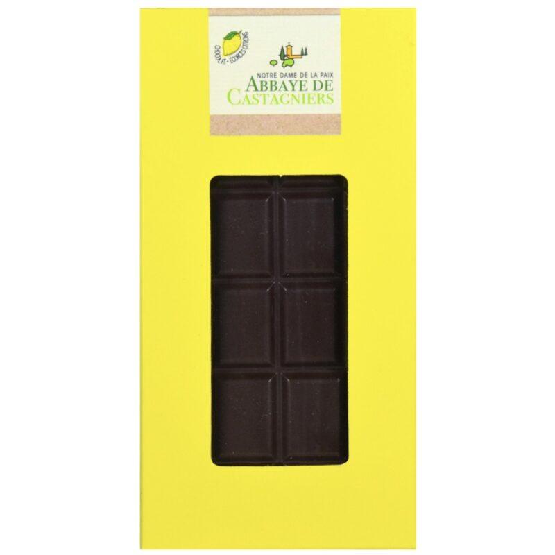 Chocolat écorces citron - Abbaye Notre Dame de la Paix de Castagniers - Divine Box