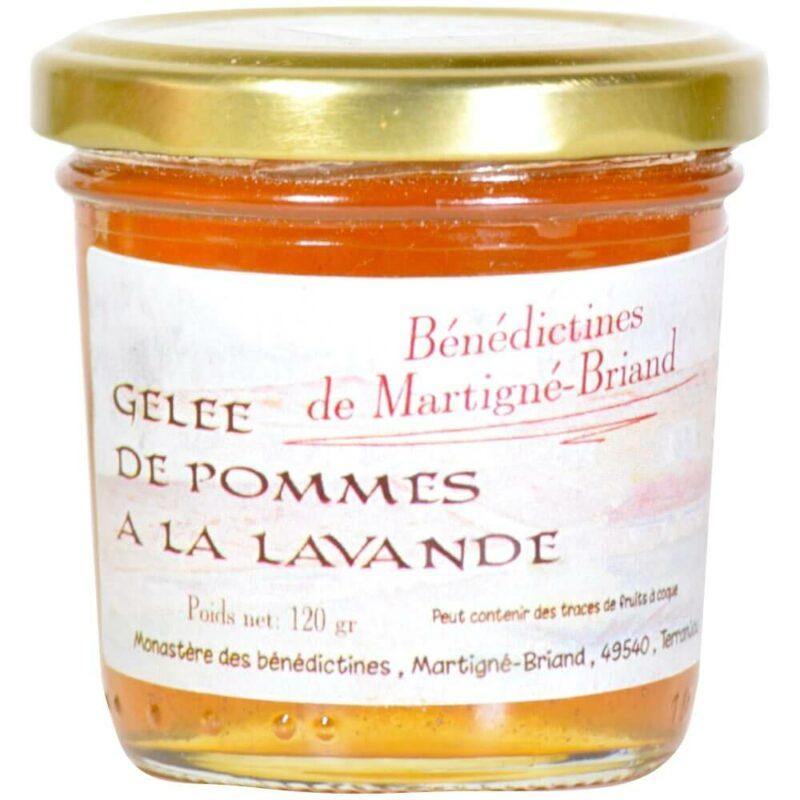 Gelée pomme lavande - Monastère de Martigné-Briand - Divine Box