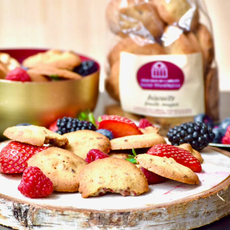 Biscuits aux fruits rouges – Abbaye Saint-Wandrille - Divine Box