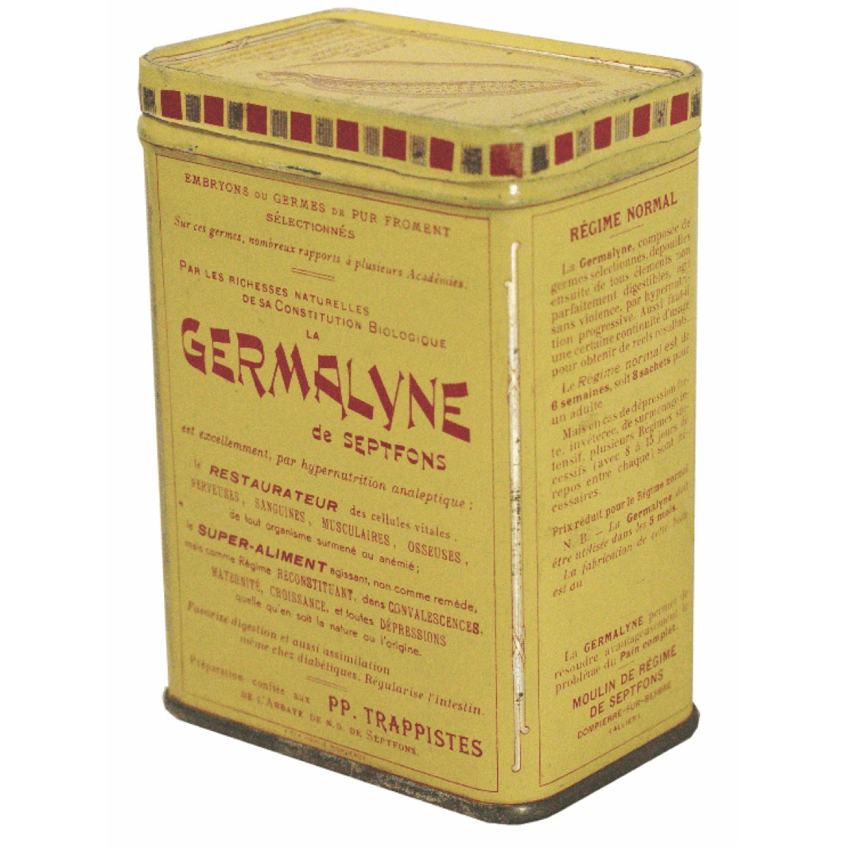 boite métal germalyne - abbaye de sept fons - divine box