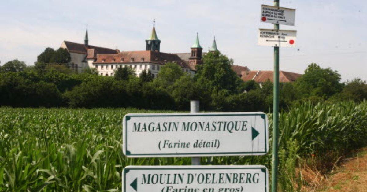 Le carrefour entre production et boutique -Abbaye d'Oelenberg-Divine Box