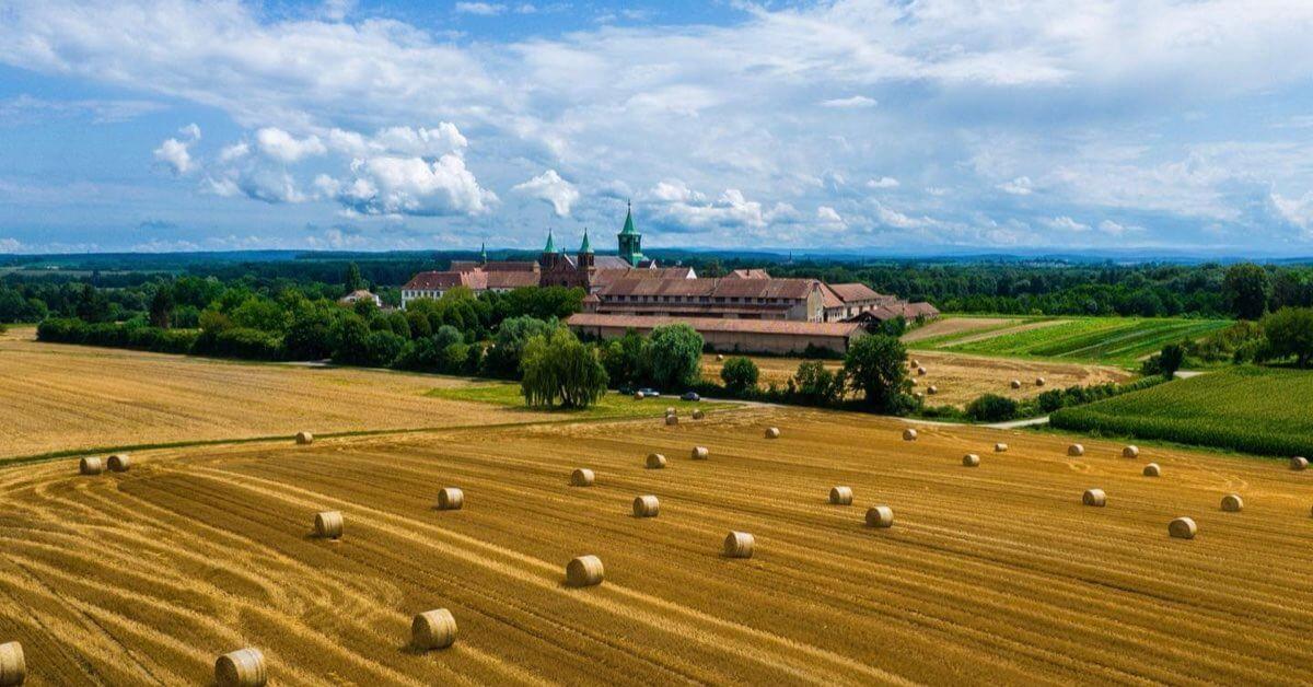 les champs de l'abbaye-Abbaye d'Oelenberg-Divine Box